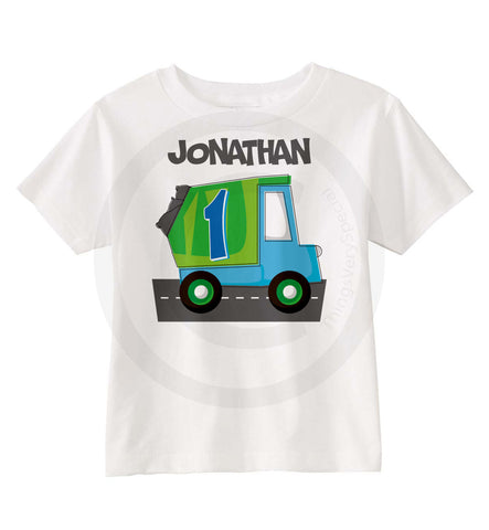 Garbage Truck Birthday Shirt for Boys 11052014c ThingsVerySpecial