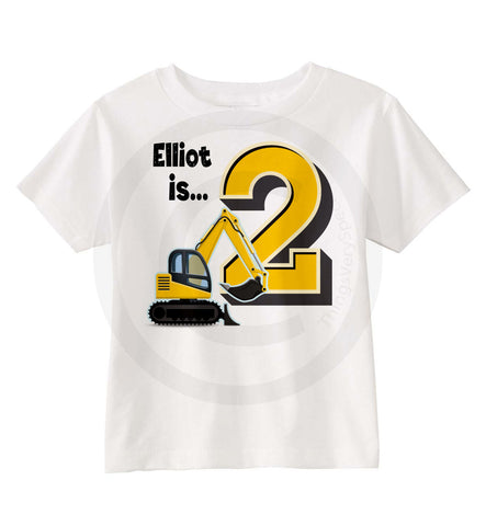 Construction Birthday Shirt for 2 year old boy 11052015c