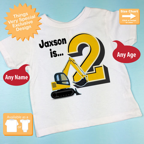 Construction Theme Birthday Shirt 2nd Outfit For Boys 11052015c