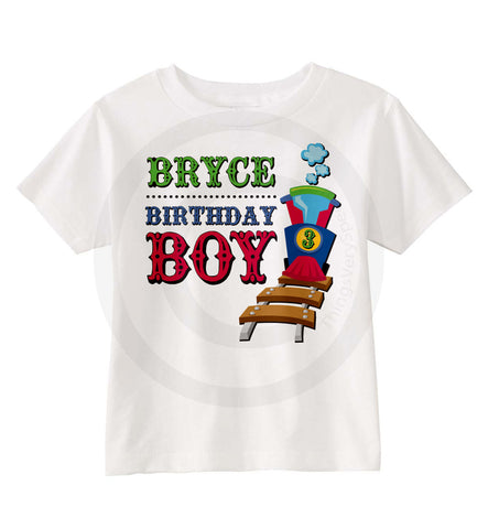 Train Birthday Shirt for boys