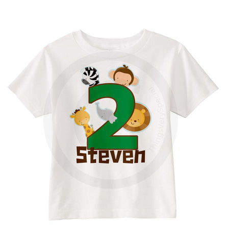 Jungle Birthday Shirt for 2 year old boys