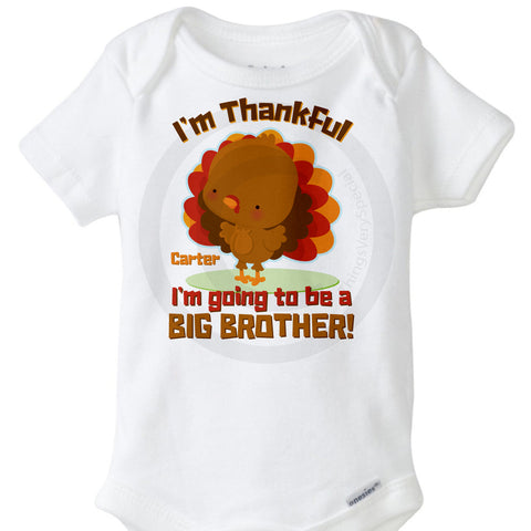 Thankful Big Brother Onesie Bodysuit | 11222013a | ThingsVerySpecial