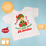Boy's Christmas Elf Shirt for Christmas Outfit Personalized 11292010a