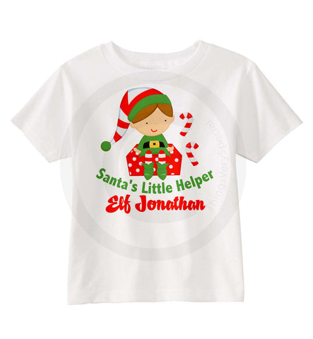 Santa's Little Helper Elf Shirt for boys 11292010a ThingsVerySpecial
