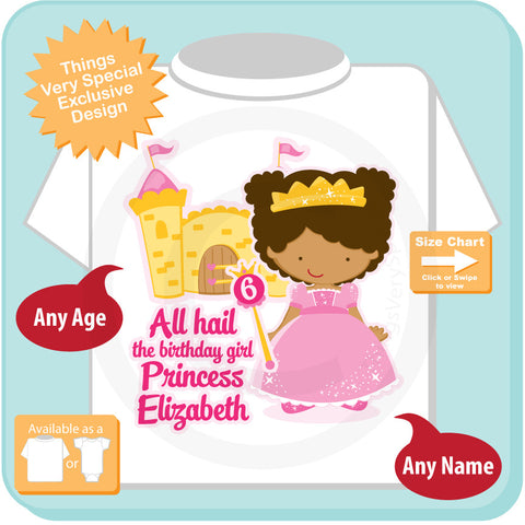 Sixth birthday shirt african american princess birthday shirt sixth birthday shirt african american princess birthday shirt personalized princess 6th birthday girl tshirt negle Images