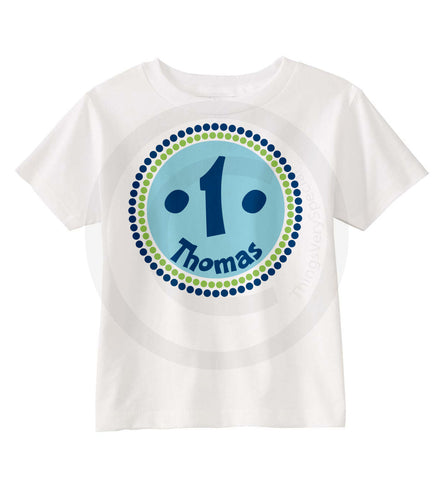Green and Blue Birthday Shirt for Boys 12302013b ThingsVerySpecial