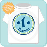Boy's First Birthday Circle Design in Blue and Green 12302013b