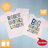 Biggest Brother and Big Brother, Personalized set of 2 12302013f