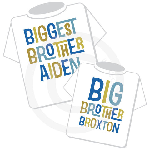 Biggest Brother and Big Brother Matching Shirt Set