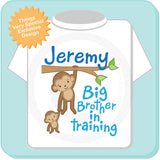 Big Brother In Training Shirt with Monkey Big Brother 11242011a