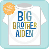 Big Brother Shirt, Announcement Shirt, Big Brother Gift, Big Brother, Boy's Shirt, Boys Clothing, 12172013b
