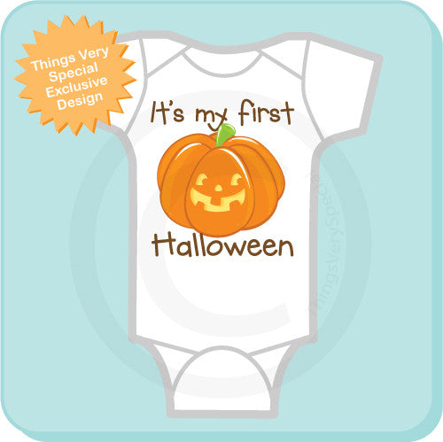 8be8a4dd4 Baby's first Halloween Bodysuit - It's My First Halloween Onesie – Things  Very Special