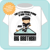 I'm Going To Be A Big Brother Hockey Player tee shirt, pregnancy announcement 04252012b