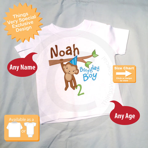 Monkey Birthday Boy Shirt