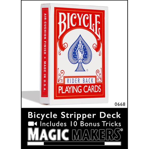 Bicycle Stripper Deck with 10 Bonus Tricks - Red