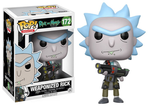 POP! Animation Vinyl Figure: Rick and Morty - Rick (Weaponized)