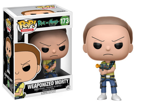 POP! Animation Vinyl Figure: Rick and Morty - Morty (Weaponized)