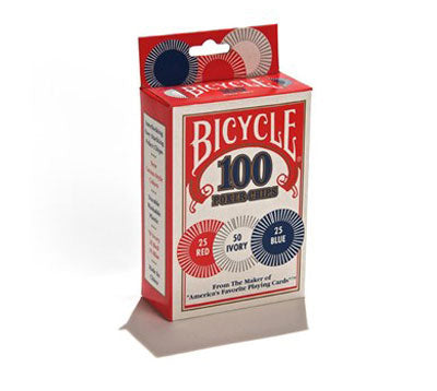 Bicycle® 2-Gram Plastic Poker Chips: 100 Count