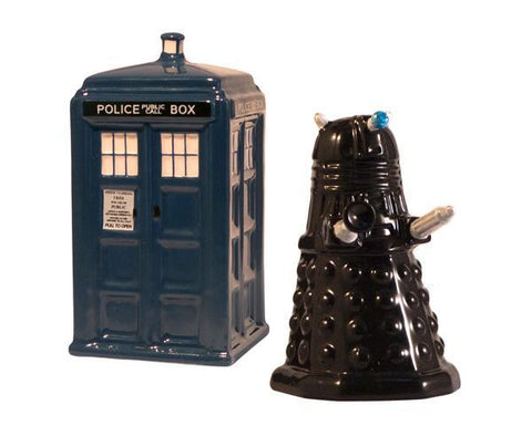 Salt & Pepper Shakers: Doctor Who - TARDIS & Dalek