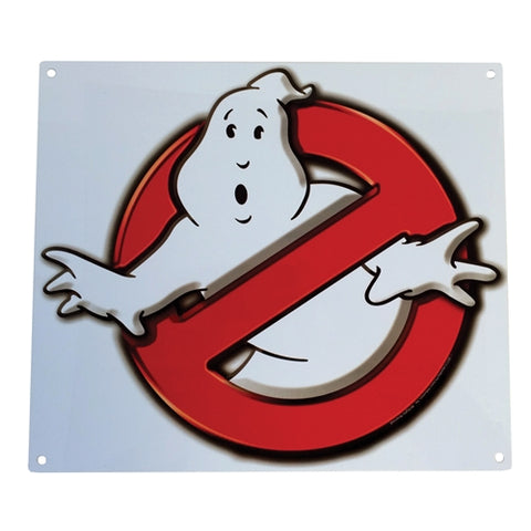 "Ghostbusters - ""No Ghosts"" Logo:  Metal Sign"