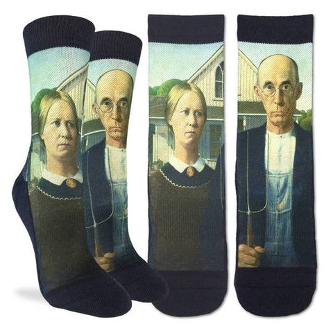 Active Fit Socks: American Gothic (Size 5-9)