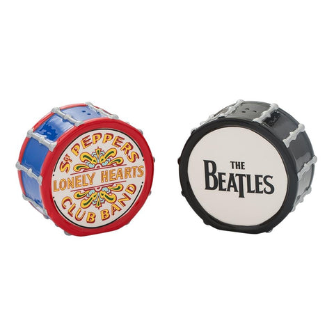 Salt & Pepper Shakers: The Beatles Drums Ceramic