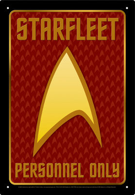 Tin Sign: Star Trek Authorized Personnel
