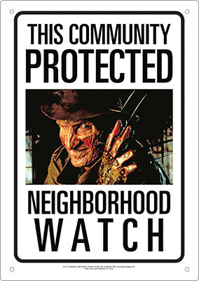 Tin Sign: Neighborhood Watch (Freddy)