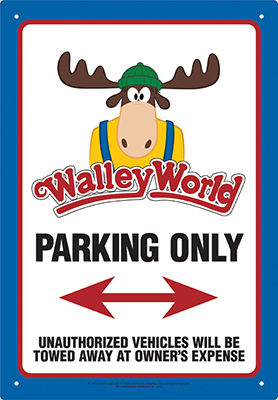 Tin Sign: Walley World - Parking