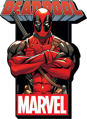 Funky Chunky Magnet: Marvel - Deadpool with Logo