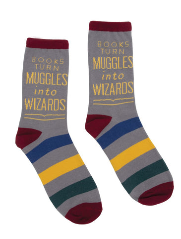 Socks: Books Turn Muggles into Wizards: SMALL