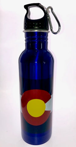 Colorado Water Bottle: Blue Flag