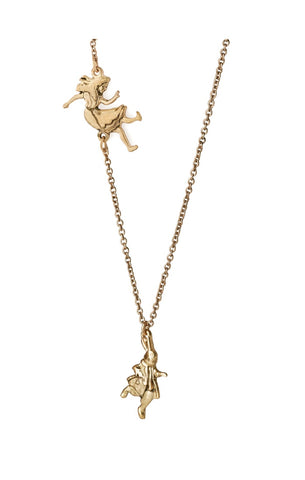 Down the Rabbit Hole: Gold Necklace