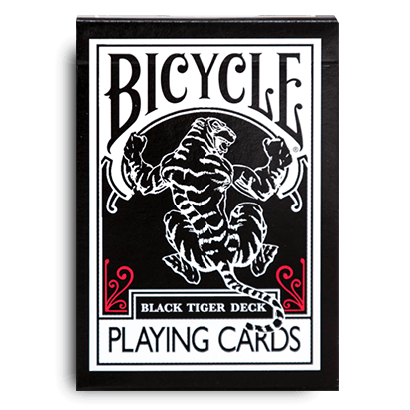 Playing Cards: Bicycle Black Tiger (Red)