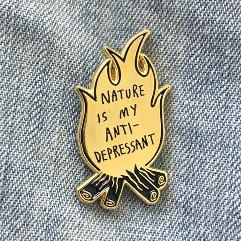 Enamel Pin: Nature Is My Antidepressant