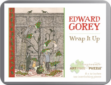 Edward Gorey: Wrap It Up 100-piece Jigsaw Puzzle