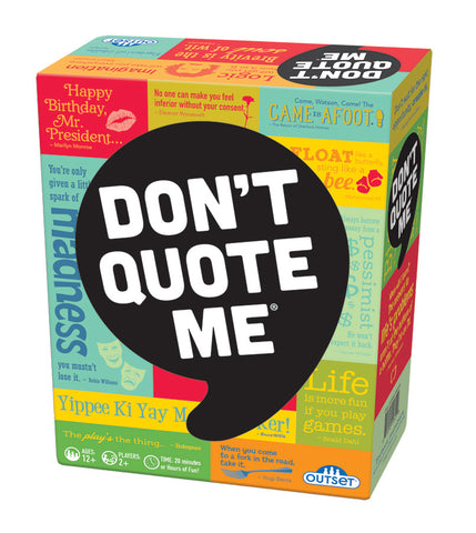 Don't Quote Me® Game