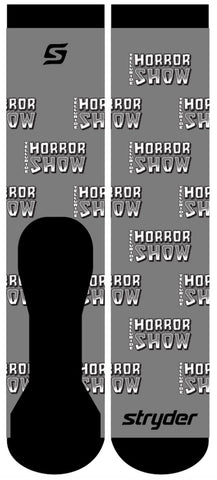 Telluride Horror Show Socks: Grey Logo