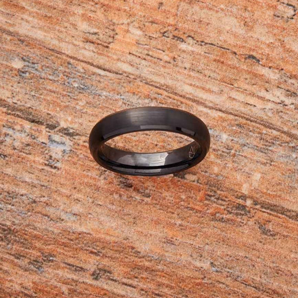 Black Tungsten Ring - Minimalist - 4MM