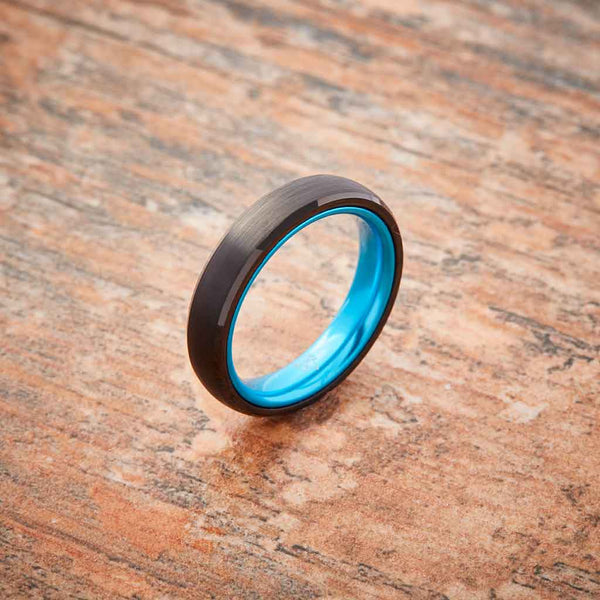 Black Tungsten Ring - Women's