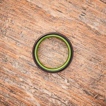 Load image into Gallery viewer, Black Tungsten Ring - Resilient Green - 4MM