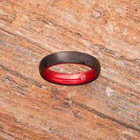 Black Tungsten Ring - Resilient Red - 4MM