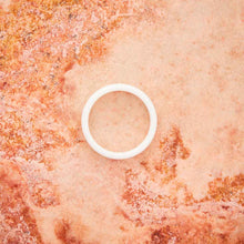 Load image into Gallery viewer, White Ceramic Ring - Minimalist - 4MM