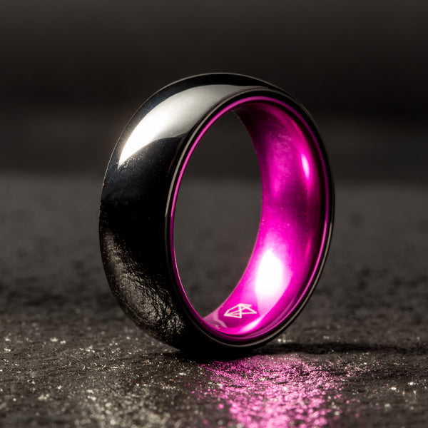 Black Ceramic Ring - Resilient Purple