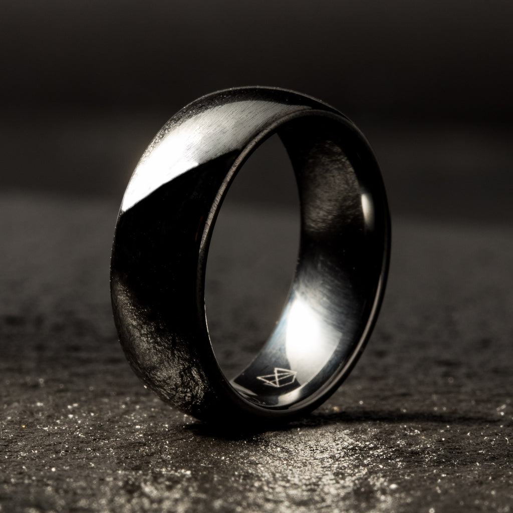 Black Ceramic Ring - Minimalist