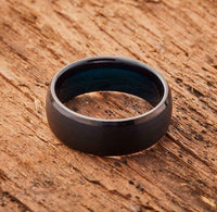 Black Tungsten Ring - Minimalist