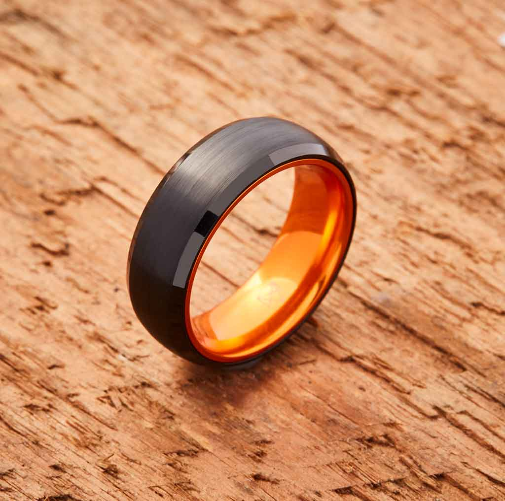99346a262fe4 EMBR™ Black Tungsten Ring - Resilient Orange