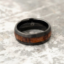 Load image into Gallery viewer, Black Tungsten Ring - Ironwood