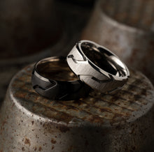 Load image into Gallery viewer, Titanium Ring - Black Striker