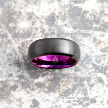Load image into Gallery viewer, Black Tungsten Ring - Purple EMBR